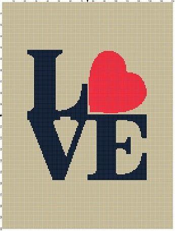 Graphghan Crazy Intarsia Crochet - Love Graph