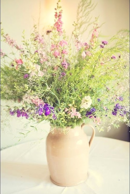 Wild flowers in jug - simple and beautiful