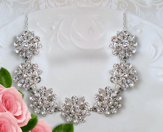 Hey, I found this really awesome Etsy listing at https://www.etsy.com/listing/150086796/bridal-statement-necklace-wedding
