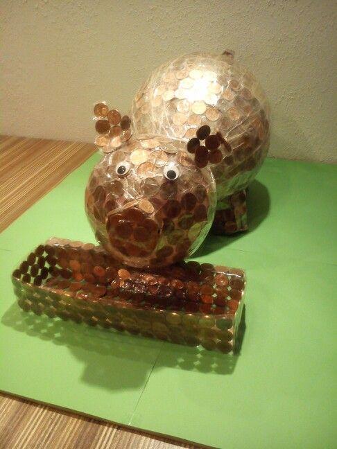 Money pig Spaarvarken van geld Geld cadeau