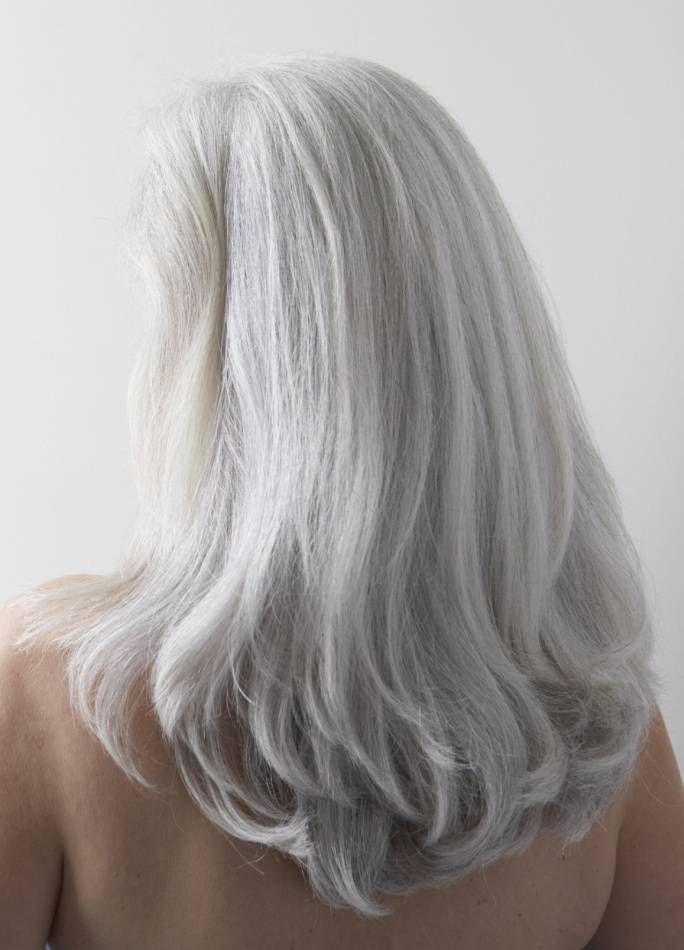 HAIR INK.: STRAIGHT LONG GRAY HAIR LADIES