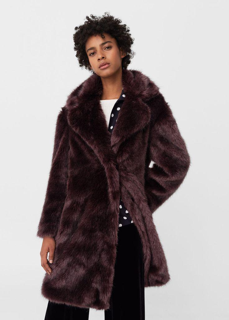 Faux fur coat - Coats for Woman | MANGO USA