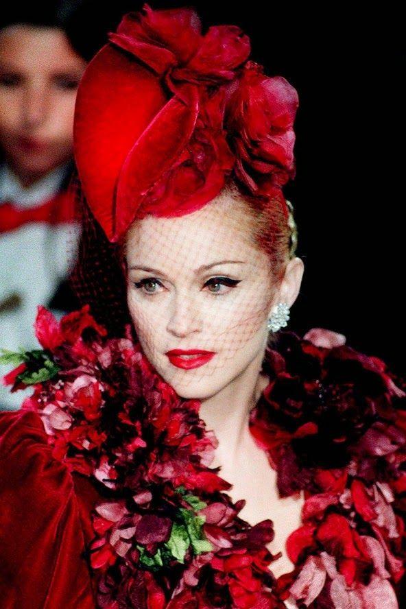 Rare Vintage - Madonna at the premiere of Evita in John Galliano