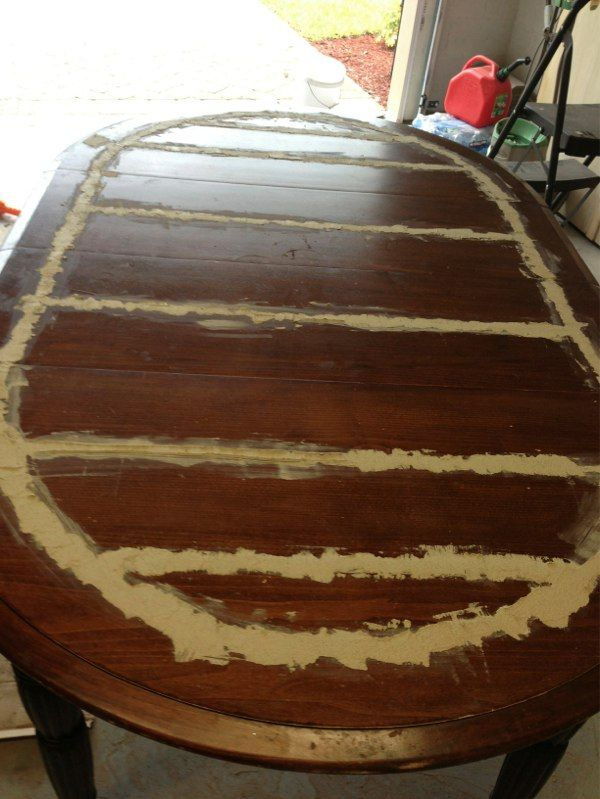 How To Refinish A Dining Room Table With Grooves