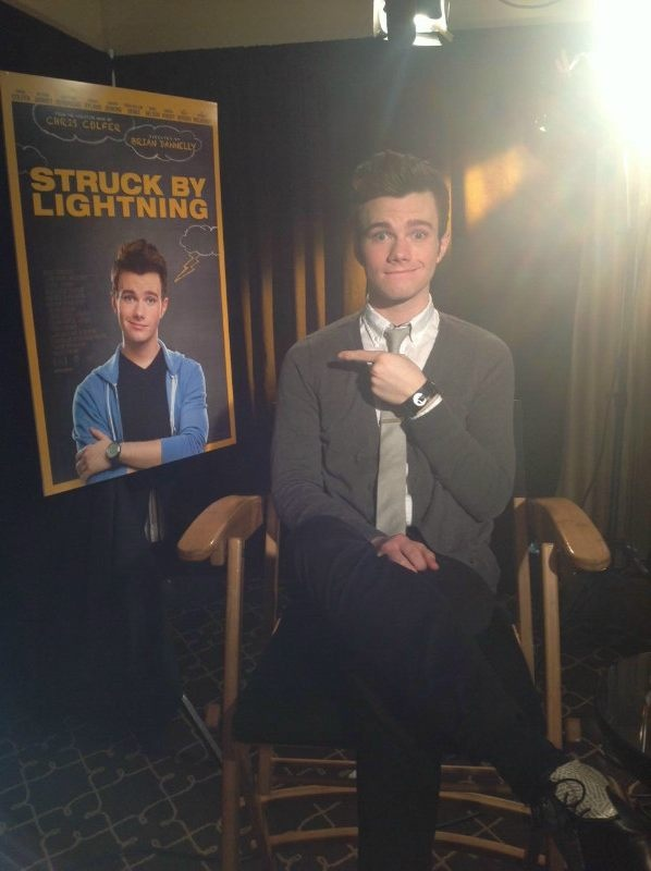 #Chris Colfer #SBL #Press Junket