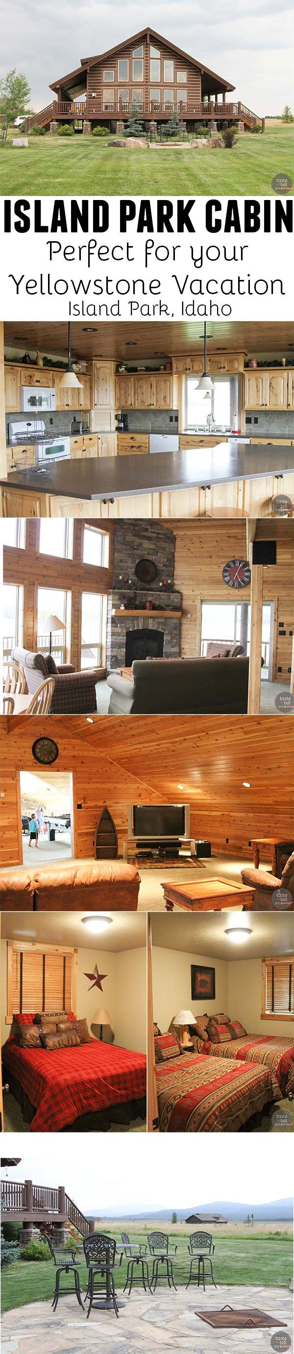 Wondering where to stay for your Yellowstone visit? Rent a cabin in Island Park Idaho – it's especially perfect for larger groups!