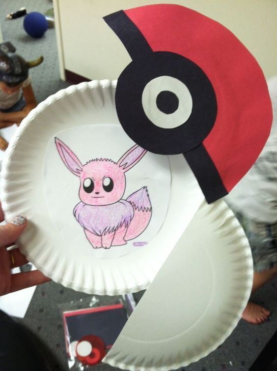 Pokemon Pokeball Kids Craft