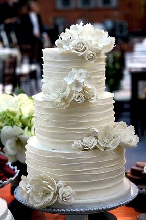I love this cake just make the flowers the color of my wedding