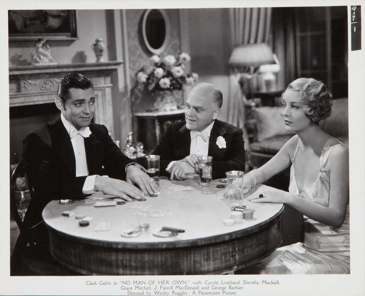 Clark Gable, Grant Mitchell and Dorothy Mackaill in No Man of Her Own directed by Wesley Rugies, 1932