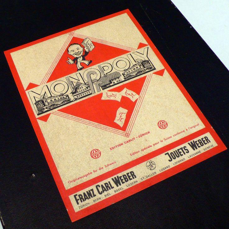Carlit Monopoly Brettspiel Alt 1940er - cyan74.com vintage and pop culture
