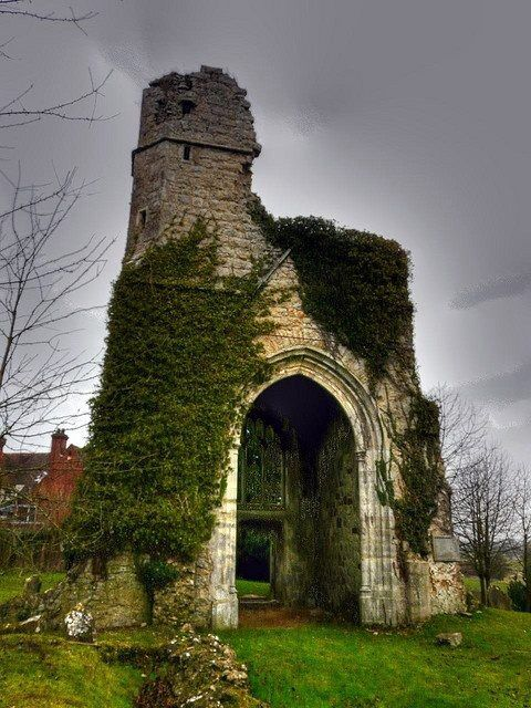 Little Chart Old Church, near Pluckley, Kent: