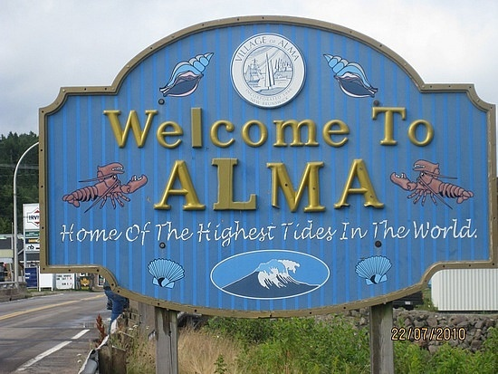 Alma - the village at Bay of Fundy Park, Alma, Canada