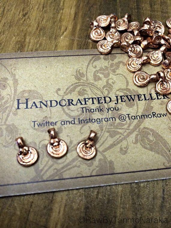 Cooper pendants Indian tribal ethnic beautiful art supplies metal beads Small