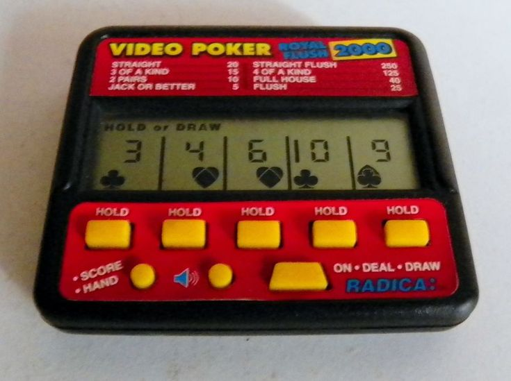 RADICA VIDEO POKER 410 VINTAGE ELECTRONIC HANDHELD GAME ROYAL FLUSH 2000  #Radica
