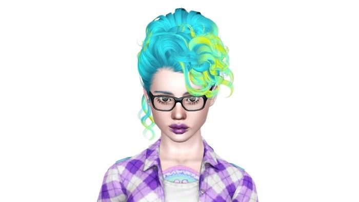 Diso Cova hair part 2 of the Disco Heaven Frankenmesh by Sjoko - Sims 3 Downloads CC Caboodle