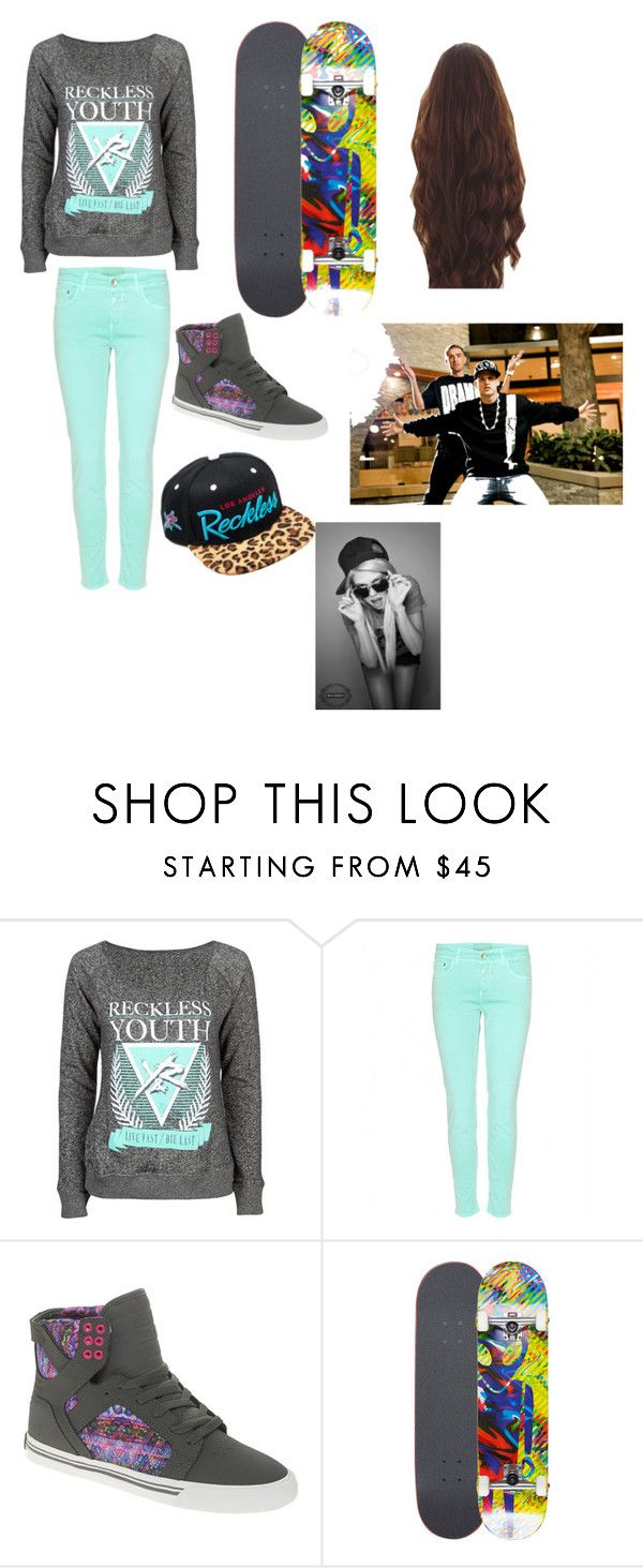 """""""Hanging out with Chanel West Coast,Rob Dyrdek,and Chris""""Drama""""Pfaff"""" by not-your-ordinary-girl ❤ liked on Polyvore featuring Young & Reckless, Closed, Supra, Alien Workshop and Tag"""