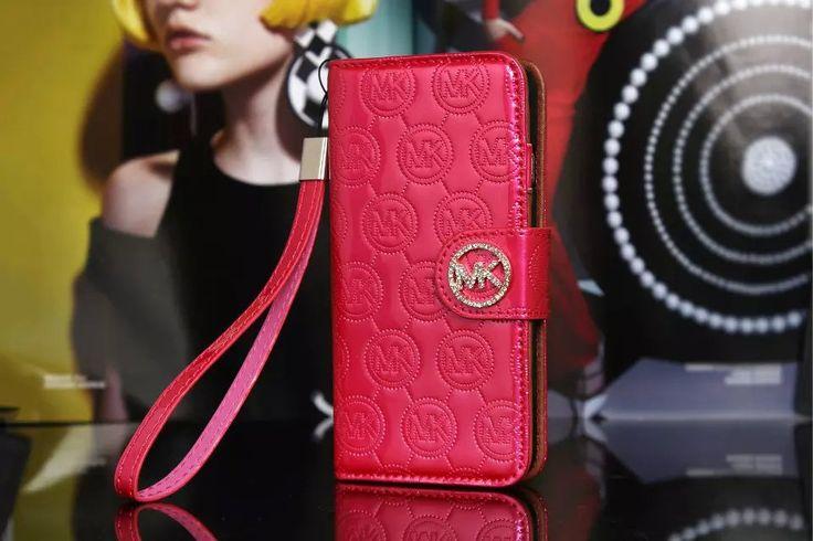 Michael Kors iPhone 7 Case Wallet Vernis Cover Plum