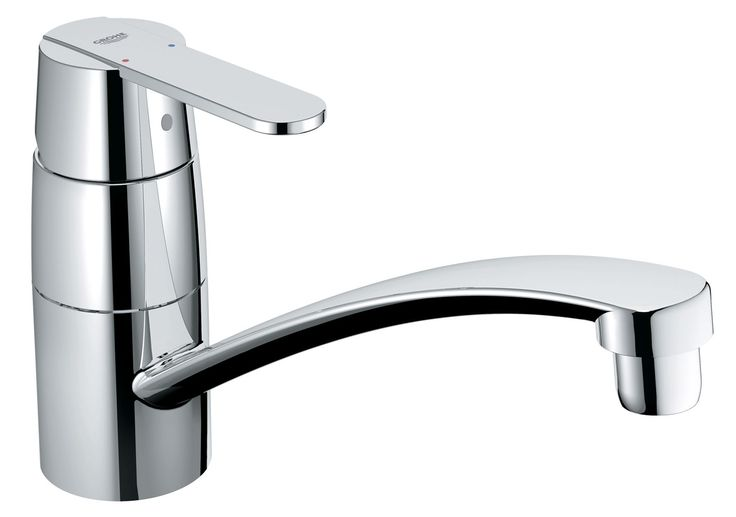 Grohe Get Chrome Effect Lever Tap   Departments   DIY at B&Q