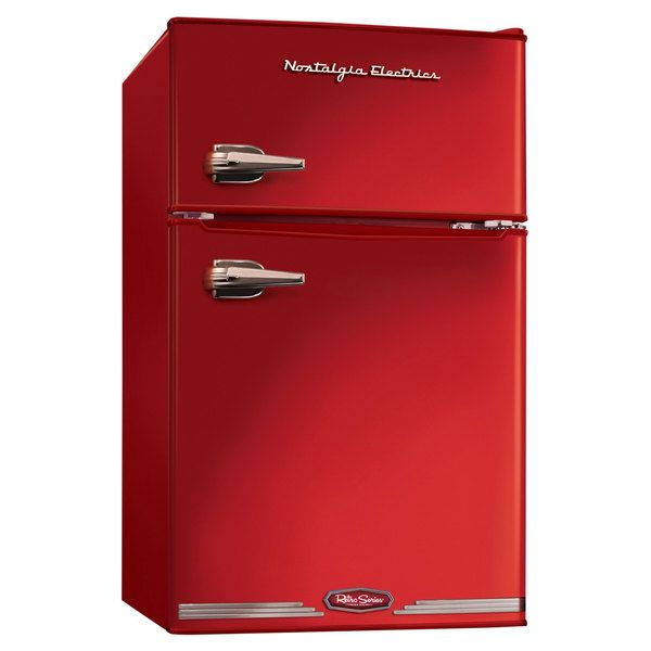 nostalgia electrics red retro series 30cubic foot compact freezer overstock shopping