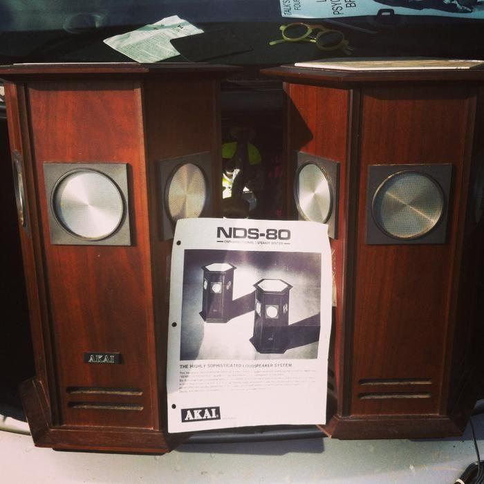 Akai NDS-80 pillar vintage omnidirectional 7-speaker RARE   [u'Victoria City'],  Victoria - MOBILE
