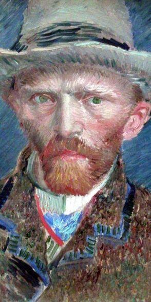 lacarton.com.es Van Gogh : Autoportrait en chapeau de feutre 1886-1887 (détail)