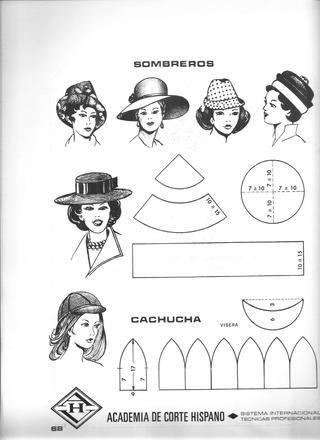 Corte y confeccion encarnacion mosquera. 1977-- patrones sombrero/gorro