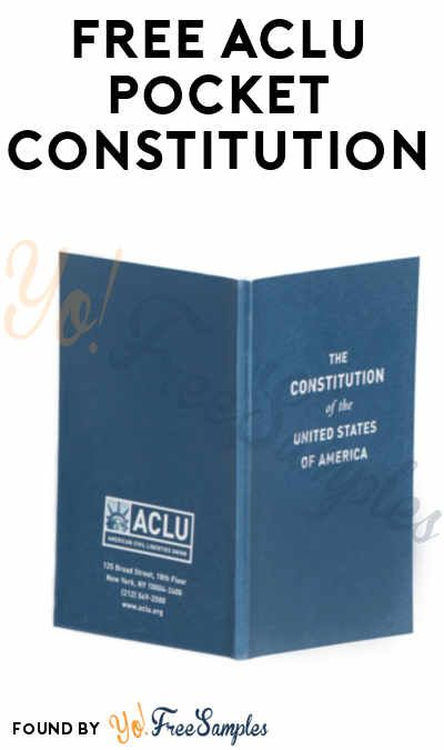 FREE ACLU Pocket Constitution (Free Shipping May Vary) [Verified Received By Mail]