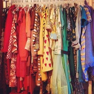 Color-coordinated closet