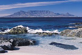I have been up Table Mountain and to Blouberg Beach where the photo was taken from.