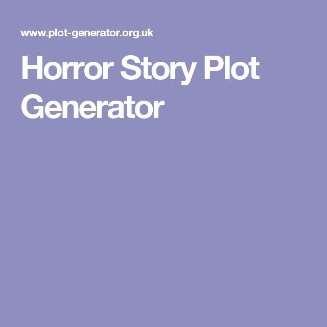 Horror Story Plot Generator