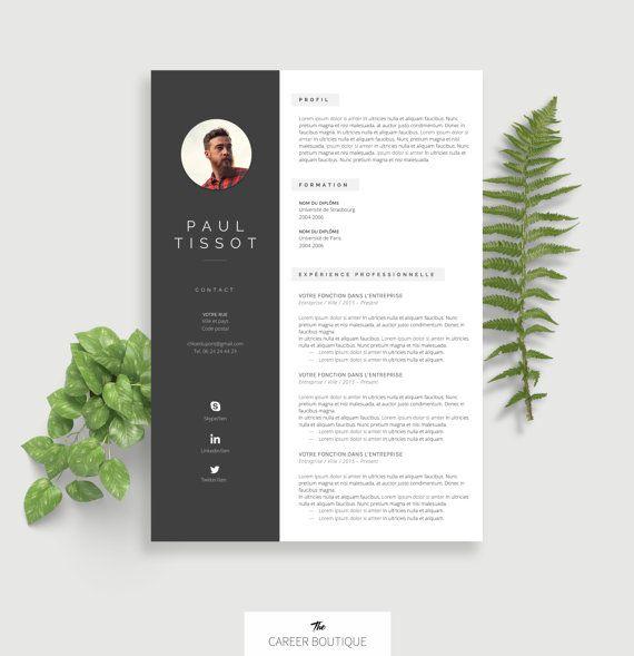 Modèle de CV   Resume Template   Lettre de Motivation pour MS Word   Téléchargement Numérique Instantané   Paul