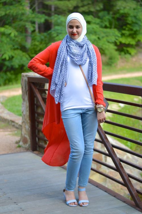 casual hijab summer look, Classy hijab outfits http://www.justtrendygirls.com/classy-hijab-outfits/