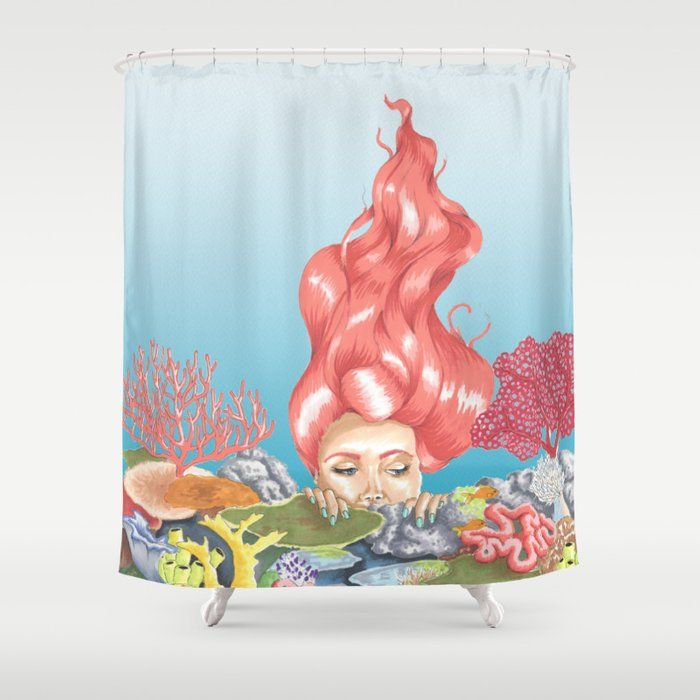 Living Coral Reef Shower Curtain Livingcoral Coral Coralpink