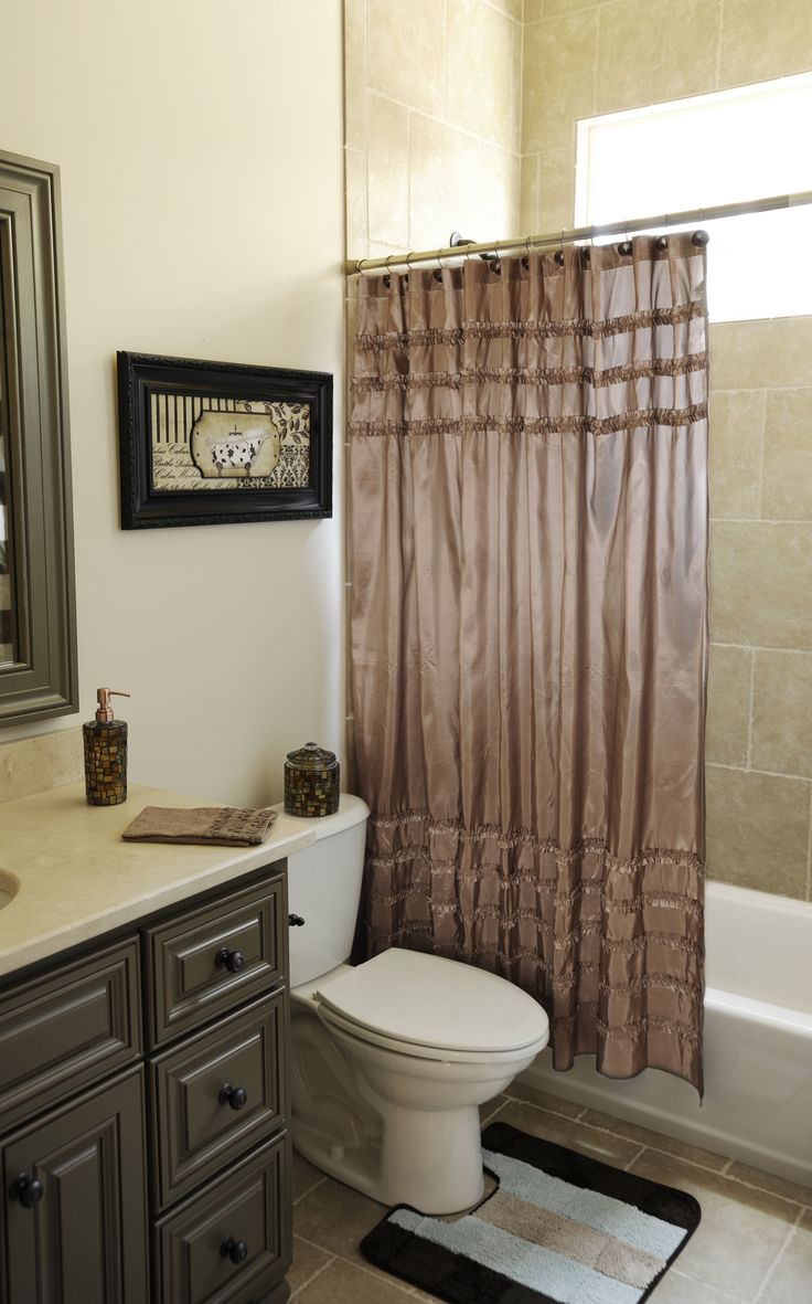 Modern wall tile by fap futura tiles for kitchen amp bathroom - Taupe Ruffle Shower Curtain