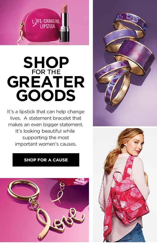 Avon will donate 10% of the sale price from breast cancer fundraising products to the Avon Foundation for Women Canada to support Avon Breast Cancer Crusade programs across the country. Avon will donate 10% of the sale price from domestic violence fundraising products to the Avon Foundation for Women Canada to support Speak Out Against Domestic Violence programs across the country.