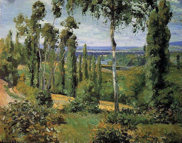 Сельская местность рядом с Конфланом Сент-Оноре 1874. Камиль Писсарро