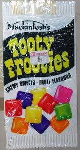 Given these as a prize at school sports day and cried because I wanted jelly tots instead. I never forgave Tooty Frooties.