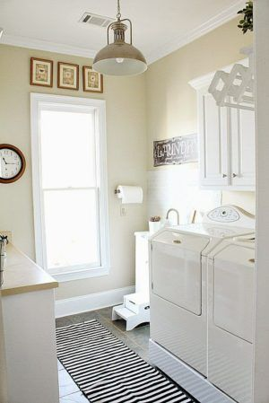 Over 30 laundry room makeovers - lots of do it yourself ideas at Refresh Restyle