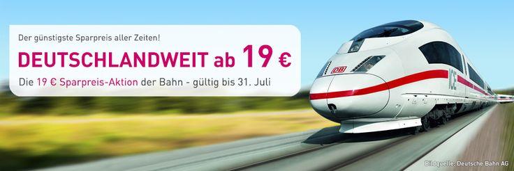 Günstige Bahn Tickets von L'TUR: Täglich neue Restplätze im gesamten deutschen Fernverkehrsnetz. Ab 19 Euro - solange Vorrat reicht!