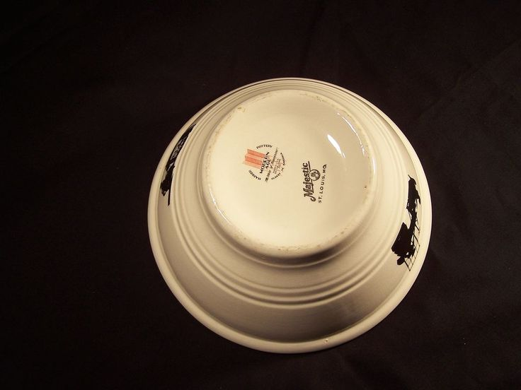 Harker Pottery Silhouette pattern Mixing Bowl from ...