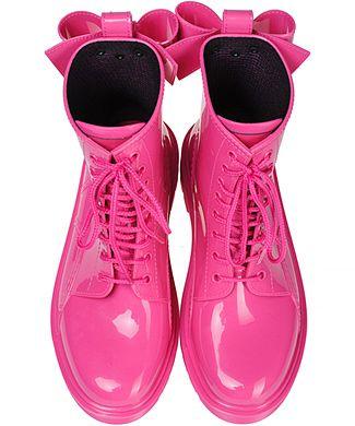 RED VALENTINO Резиновые ботинки с бантиками на шнурках