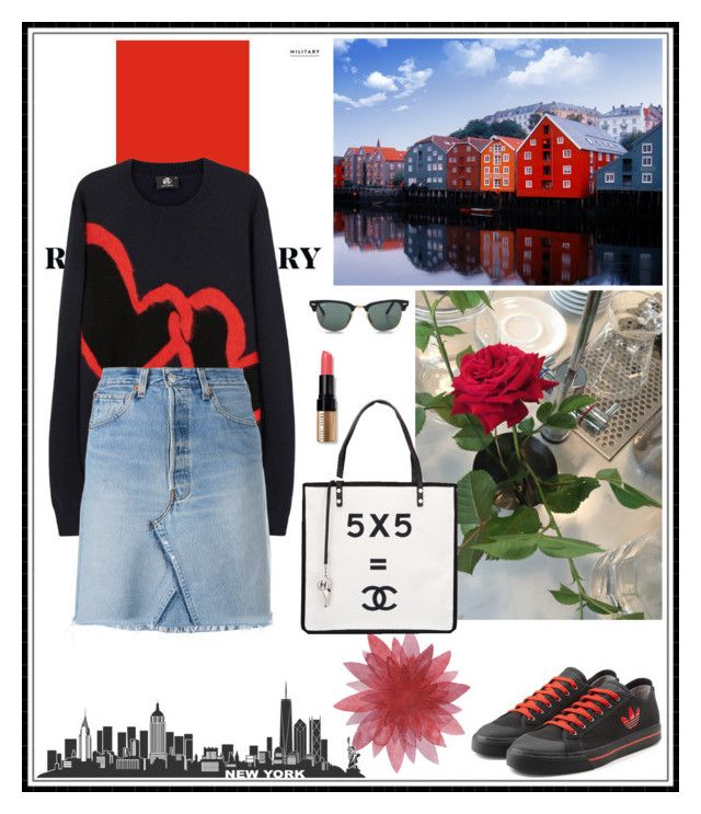 Untitled #1347 by chau-bao-ngan on Polyvore featuring mode, RE/DONE, Chanel, Ray-Ban, PS Paul Smith, adidas and Bobbi Brown Cosmetics