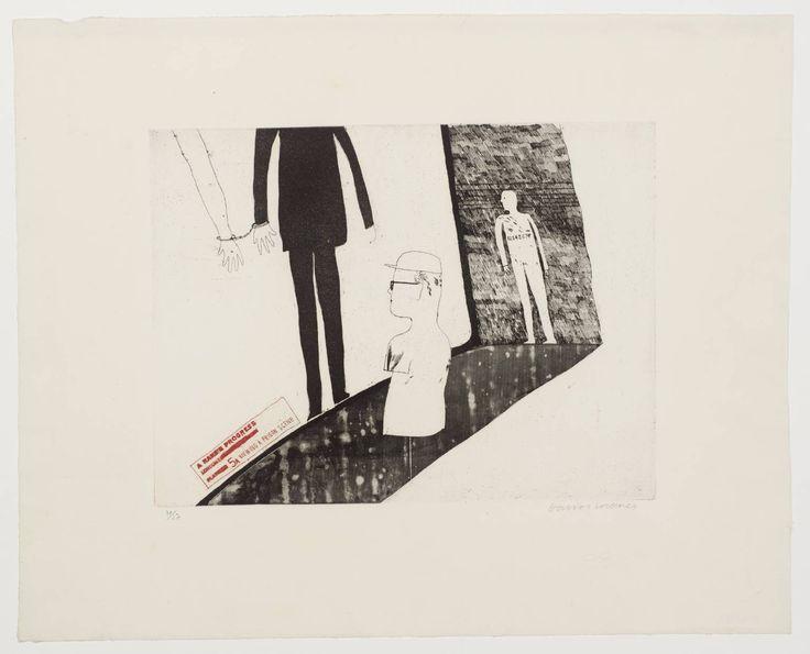David Hockney '5a. Viewing a Prison Scene', 1961–3 © David Hockney