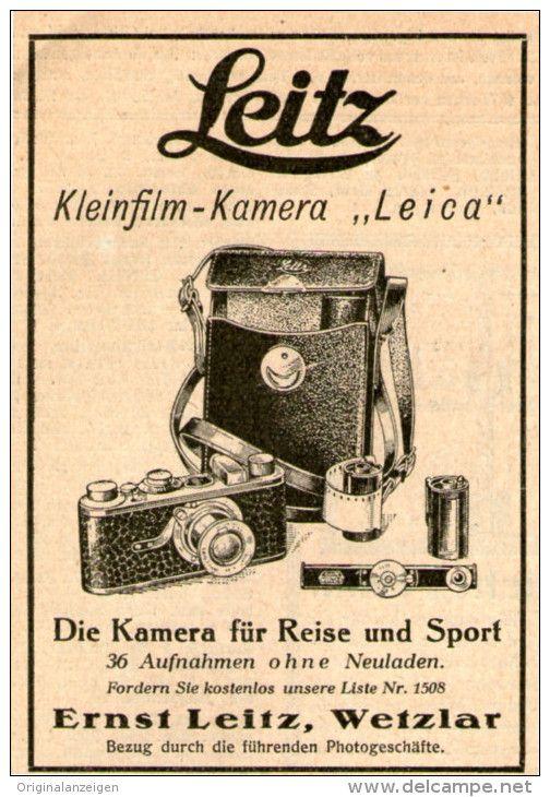 Original-Werbung/Inserat/ Anzeige 1928 - LEITZ LEICA KAMERA - ca. 70 X 100 mm