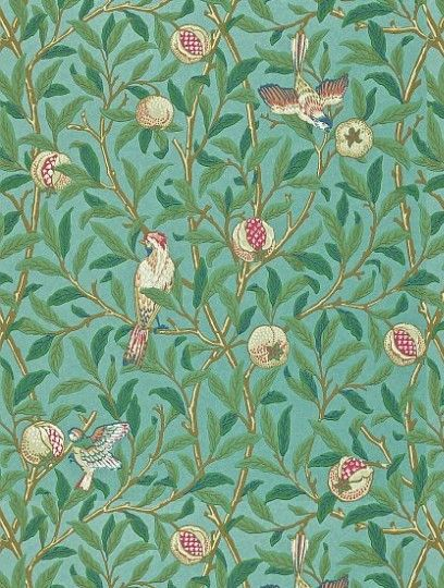 William MorrisBird & Pomegranate, a feature wallpaper from Morris and Co, featured in the Archive II Wallpapers collection.