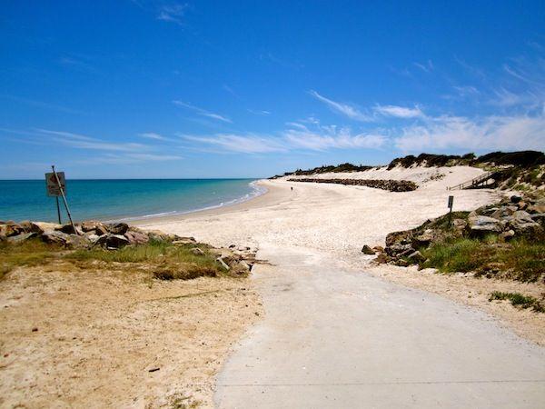 Bike trail to Glenelg Beach in Adelaide, South Australia