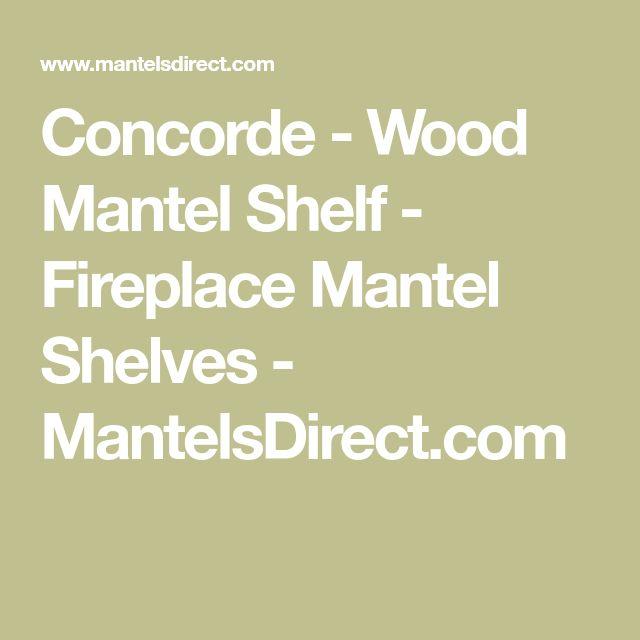 Concorde - Wood Mantel Shelf - Fireplace Mantel Shelves - MantelsDirect.com