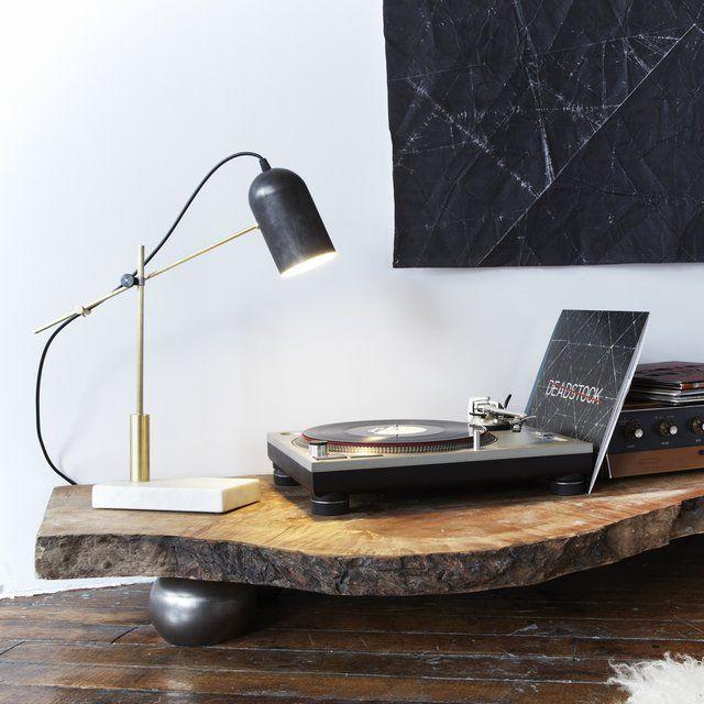 natural wood slice table