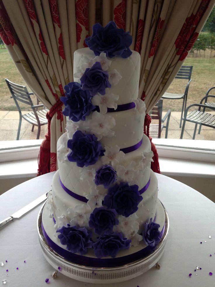 Cadbury purple rose cake