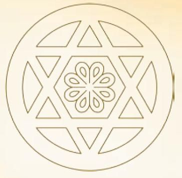 Detail of the sixfold Star (kurdish: Stêra şeşgoşê), engraved on the walls of the Laliş Temple. This Symbol is much older than Judaism. For the Yazidis this Star symbolizes the Equality of Man and Woman with the absolute Unit in the Centre.